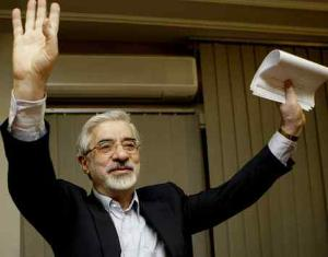Mir Hossein Mousavi, opposition presidential candidate and a hard-liner in the 1979 revolution, is a surprise reformist.  KAMRAN JEBREILI / Associated Press