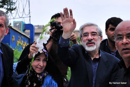 Mousavi and wife