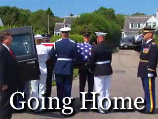 Military Honor Guard Places Sen. Kennedy's Body To His Awaiting Hearse