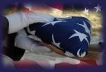 24 folded flag with white gloves